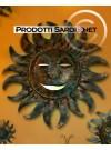 Lampada da parete Sole in ferro battuto